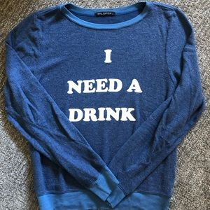 Wildfox I Need A Drink Sweater NWOT BRAND NEW sz S